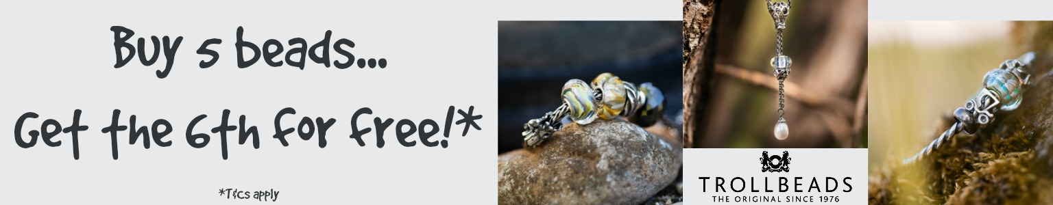 Genuine Trollbeads Charm Bracelet and Beads